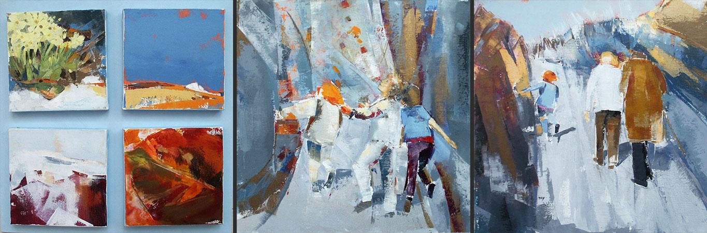 Chemin de vie premier tryptique: toiles de 50x50 cm
