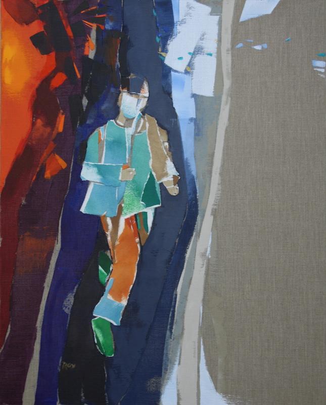 Exil, la fuite - 81x65 cm
