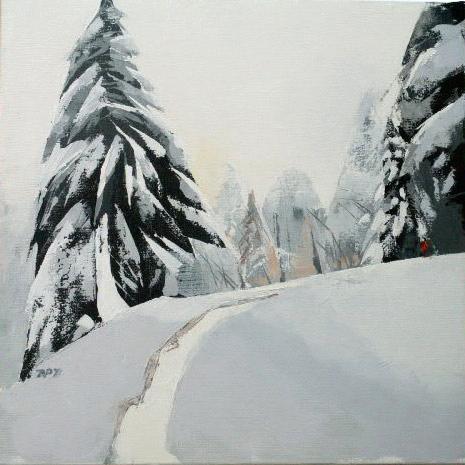 Neige - 50x50 cm