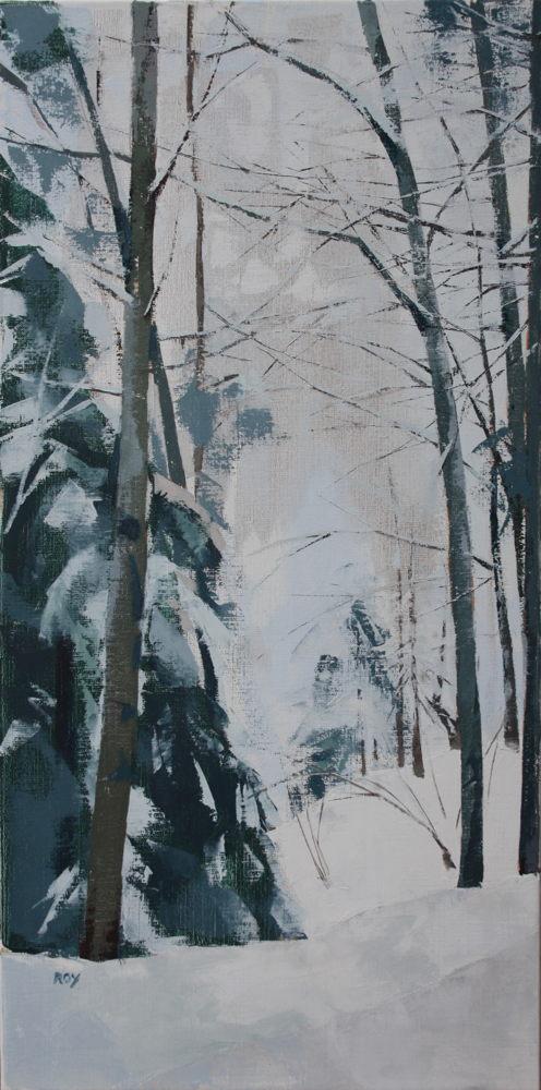Neige janvier 1 40x80