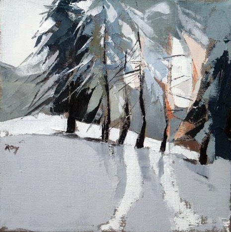 Rideau arbres - 30x30 cm